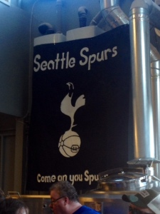 Adam Robbing's had Reuben's Brews decked out in Spurs gear to celebrate.
